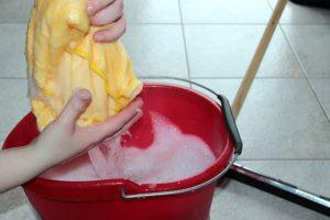 reinigungskraft und putzfrau für innen und außen